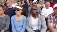 Crowd of tennis spectators video