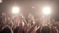 Crowd on concert video