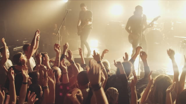 Crowd on oncert video
