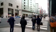 crowd people at Ginza in Tokyo, Japan video