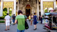 Crowd people tourism at chedi luang temple in chiang mai, Thailand. Time lapse HD. video