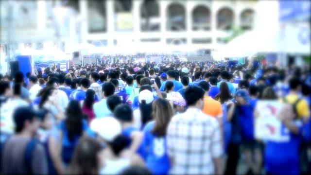 Crowd people walking. video