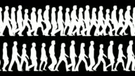(Loopable and tileable) Crowd, People walking video