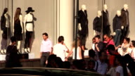 Crowd Walking by Mannequins in New York City video