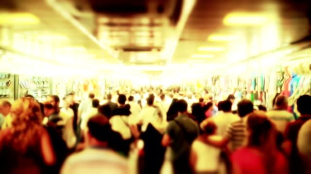 Crowd Walking video