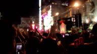 Crowd with people cheering. video