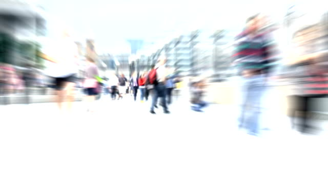 Crowded City Street. HD video