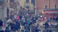 Crowded City Street video