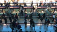crowded people at airport in Taipae video