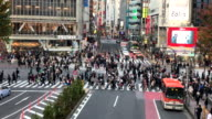crowded people at Shibuya in Tokyo video