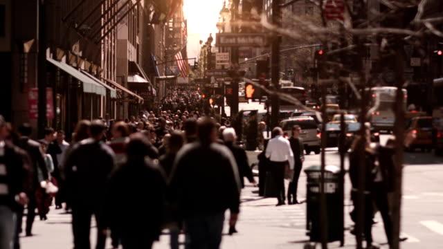 Crowded street. New York City. US. video