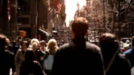 Crowded street. New York City. US. video
