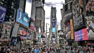 Crowded Times Square, New York video
