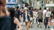 Crowds of people at Shibuya Crossing in Tokyo, Japan. video