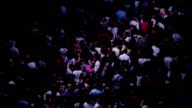 Crowds of people on a spectacular concert video
