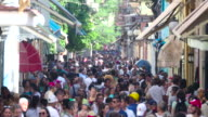 Crowds on Famous Obispo Street, Old Havana, Cuba video