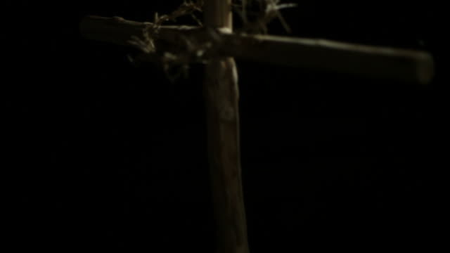 Crown of thorns on cross video