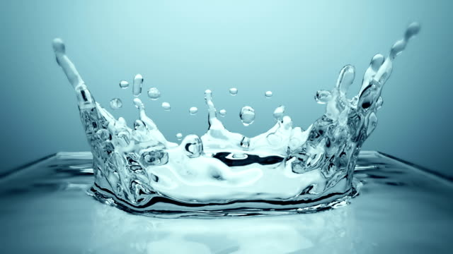 Crown Splash in Ultra slow motion video
