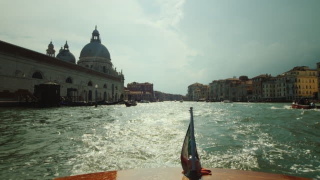Cruise on the famous Grand Canal in Venice. POV video video