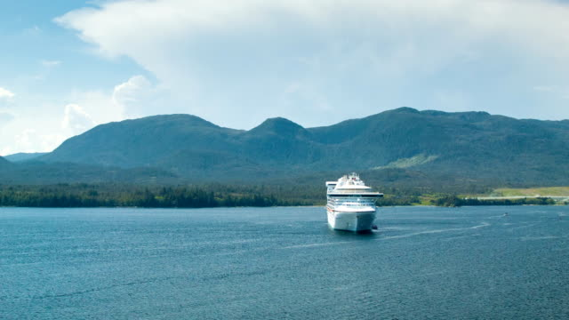 Cruise Ship Anchored in Ketchikan Alaska video