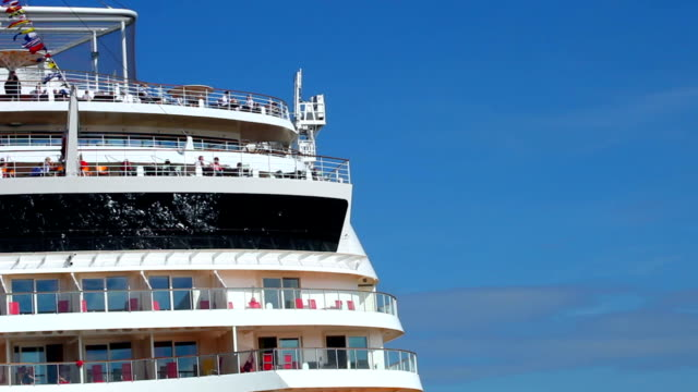 Cruise ship - close up video