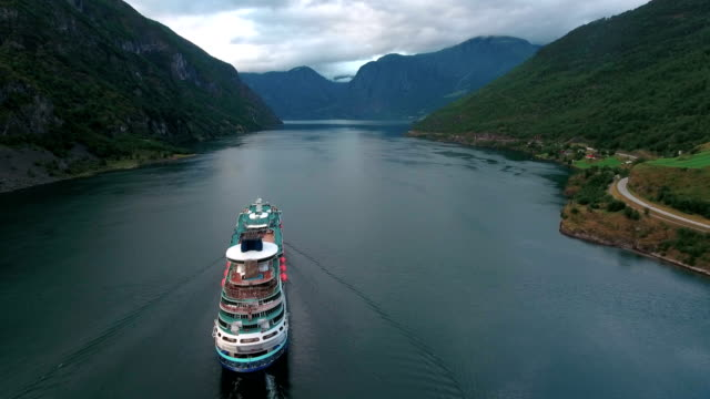 Cruise Ship, Cruise Liners On Sognefjord or Sognefjorden, Norway video
