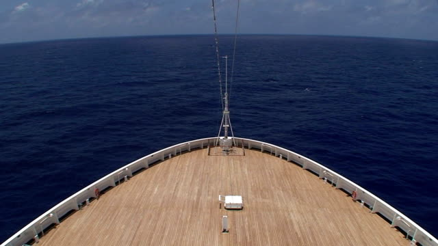Cruise Ship From The Bow video