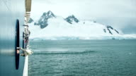Cruise Ship in Antarctica video