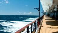 Cruise Ship Open Deck while Cruising At Sea video