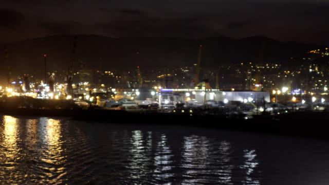 cruise ships night view video