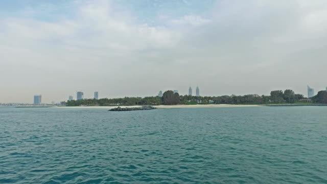 Cruising near Dubai coastline video
