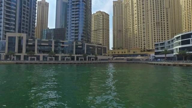 Cruising on channel of Dubai Marina video