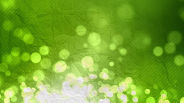 Crumpled Paper Background Loop - Green Glow (Full HD) video