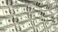 Crumpled Sheet Uncut American Dollar Banknotes video