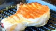 Crust fresh meat on the bone video