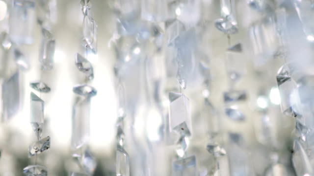 Crystal chandelier. Close up of the crystals. video