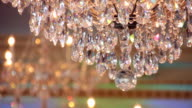 Crystal Chandelier in Hall video
