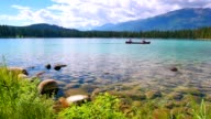 Crystal Clear Lake, Sun and Mountains video