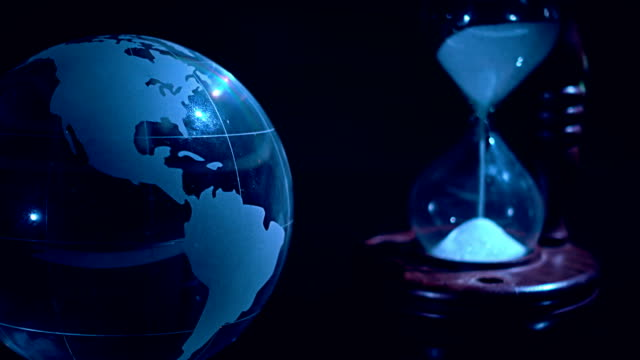 Crystal Globe And Hourglass video