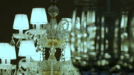 Crystal lamp and glasses video