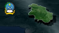 Cuanza Norte with Coat of arms animation map video
