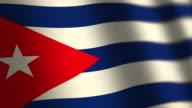 Cuba flag - loop. 4K. video