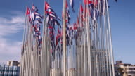Cuba, La Habana, Havana, flags near US embassy video
