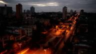 Cuba. Night Havana. The top view on  avenue Presidents. video