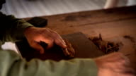 Cuba: Travel : Cigar being hand-rolled video