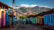 Cuba: Travel : Colourful houses in Trinidad, Cuba video