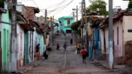 Cuba: Travel : Street scene in Trinidad video