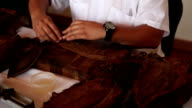 Cuban Cigar Rolling and Cutting 02 video