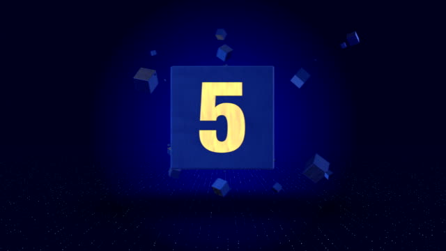 4K Cube Countdown - Stock video video