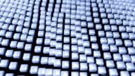 Cube grid flow patterns wobble abstract background blue 2 video